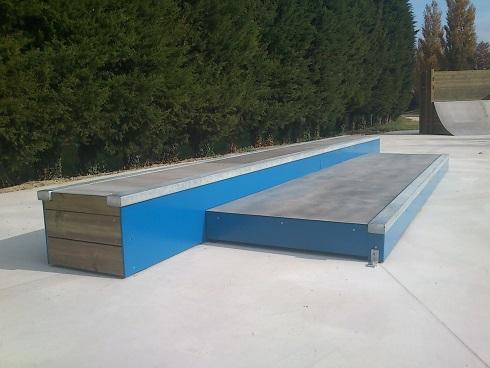 Fabricant skatepark trottoir