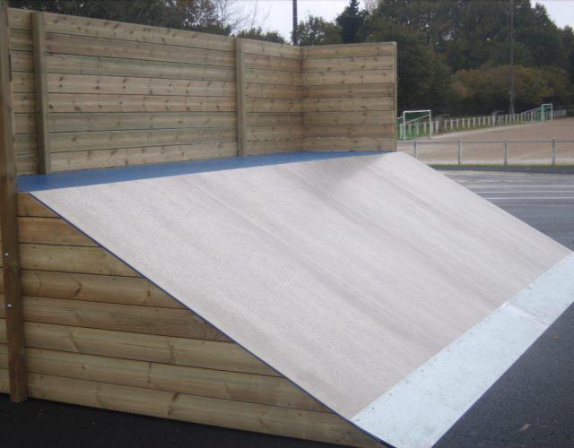 Fabricant skatepark plan incliné